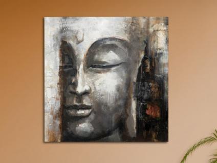 Kunstdruck Öl auf Leinwand Buddha - 100x100cm