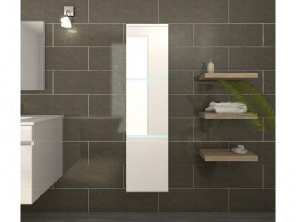 Badschrank Hochschrank mit LED-Beleuchtung HIROSHI