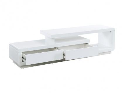 TV-Möbel ARTABAN - 2 Schubladen - Holz (MDF) - Weiß
