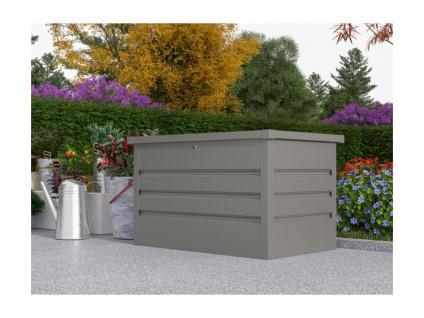 Garten-Aufbewahrungsbox TOMASO - Stahl - Grau - Volumen 295L