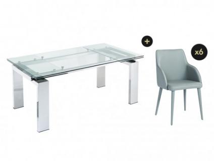 Essgruppe LUBANA: Esstisch + 6 Stühle - Vorschau 1