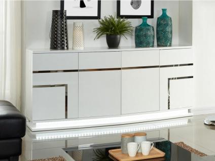 Sideboard Hochglanz LED Luminescence IV - Weiß