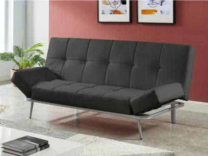 Schlafsofa 3-Sitzer Klappsofa ESPOO II - Schwarz