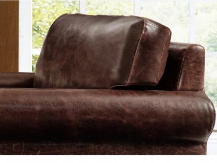 Ledersofa Vintage 2-Sitzer CASSANDRA - Braun - Vorschau 3