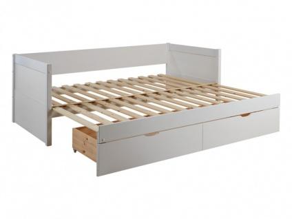 Ausziehbett mit Bettkasten ALFIERO + Lattenrost - 90x190cm - Vorschau 5
