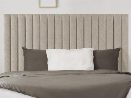 Kopfteil Bett SARAH - 140 cm - Stoff - Beige