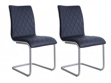 Stuhl 6er-Set WESTON - Schwarz