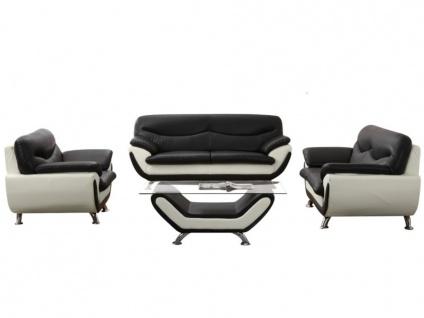 2-Sitzer-Sofa Indiz - Schwarz & Weiß - Vorschau 4
