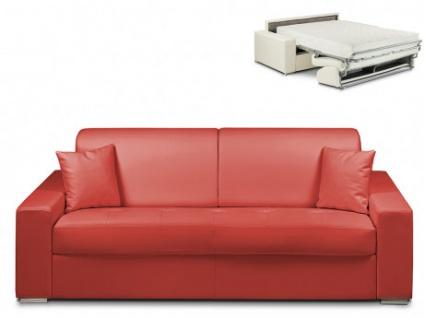 Schlafsofa 4-Sitzer EMIR - Rot - Liegefläche: 160cm - Matratzenhöhe: 22cm