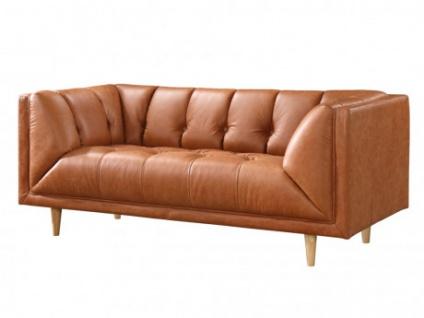 Ledersofa 2-Sitzer MURPHY - Karamell Vintage Look