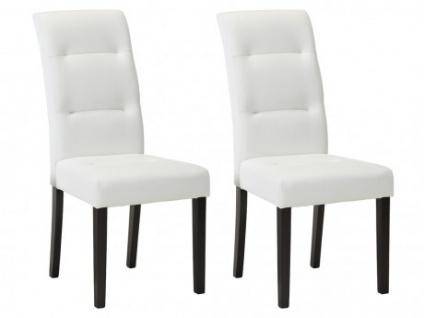 Stuhl 2er-Set Leder TADDEO - Weiß