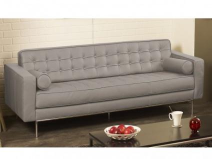Ledersofa 3-Sitzer Vittoria - Luxusleder - Grau