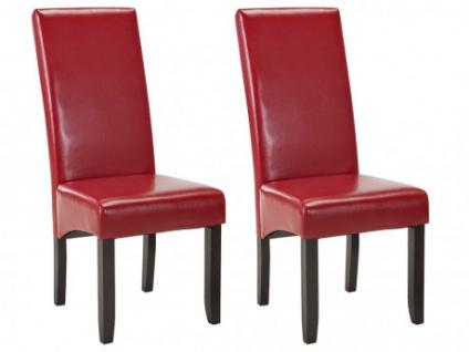 Stuhl 2er-Set ROVIGO - Rot