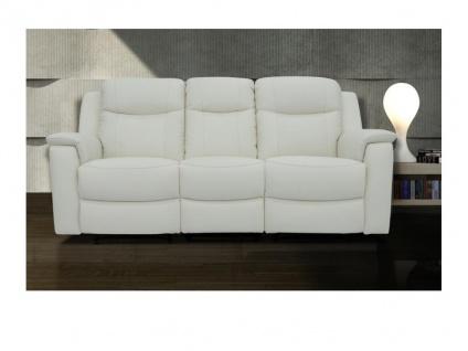Relaxsofa Leder 3-Sitzer Evasion - Elfenbein-Weiß