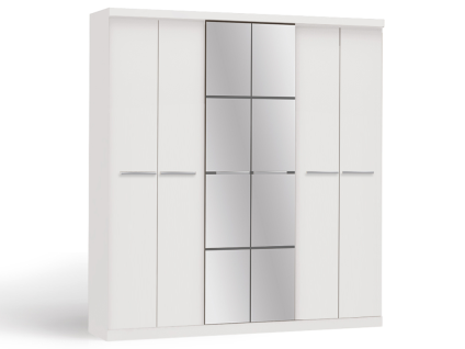 Kleiderschrank Wilhem - 6 Türen - Weiß - Vorschau 5
