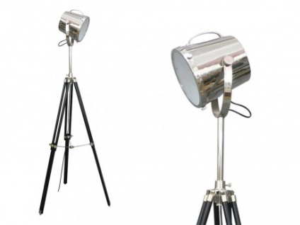 Stehlampe Stehleuchte Tripod Lampe Metall Cinema - Höhe 160 cm