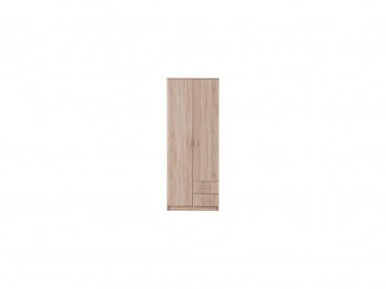 Kleiderschrank OLESSIA - 2 Türen - Eichefarben