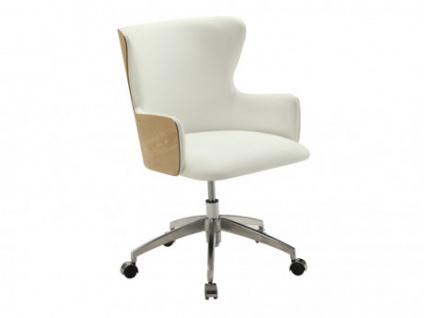 Bürostuhl SOLVEIG - Höhenverstellbar - Weiß