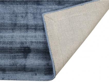 Teppich LOUVAIN - 100% Viskose - 200x290 cm - Dunkelblau - Vorschau 4