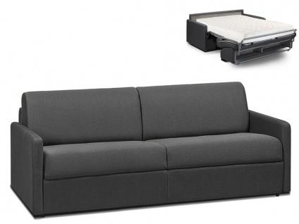 Schlafsofa 4-Sitzer CALIFE - Stoff - Grau - Liegefläche: 160 cm - Matratzenhöhe: 18cm