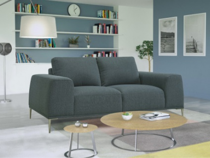 2-Sitzer-Sofa Stoff TIDIANE - Blau