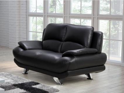 Sofa 2-Sitzer MUSKO - Schwarz