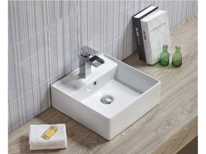 Waschbecken quadratisch VERINA - Weiß