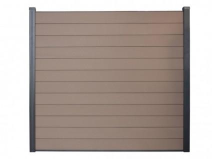Gartenzaun Sichtschutz BARRERA III - 180x180cm - Braun