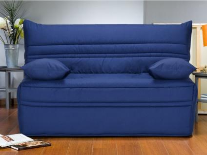 Schlafsofa Klappsofa CANYON - Stoff - 140x190cm - Blau