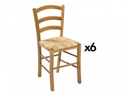 Stuhl 6er-Set Massivholz PAYSANNE - Eiche
