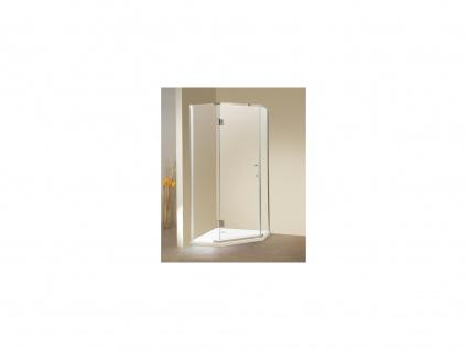 Duschtrennwand Seitenwand Eckdusche ARDIA mit Duschwanne - 90x90x185 cm