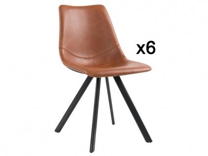 Stuhl 6er-Set MACADAMIA - Karamell