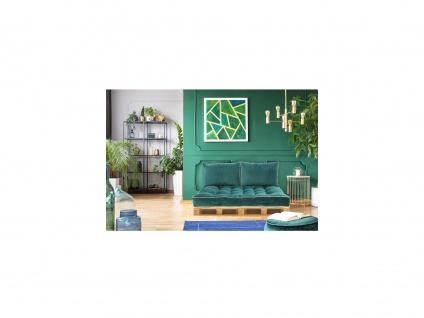 Palettenauflage Sitzkissen SAORGE - Samt - 80 x 120 x 15 cm - Grünblau - Vorschau 2