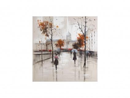 Kunstdruck Öl auf Leinwand Paris - 100x100 cm