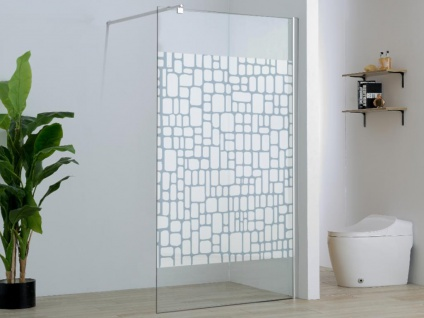 Duschtrennwand Seitenwand italienische Dusche Laura - 140x190 cm