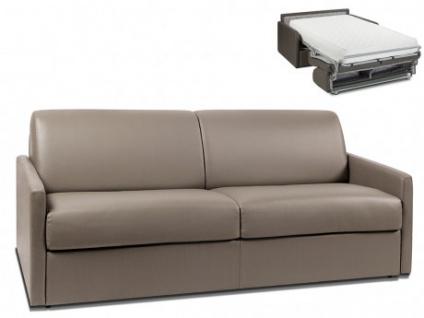 Schlafsofa 4-Sitzer CALIFE - Taupe - Liegefläche: 160 cm - Matratzenhöhe: 22cm