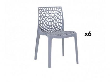 Stuhl 6er-Sets Diadem - Kunststoff - Grau