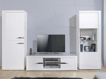 TV-Wand mit Stauraum & LED-Beleuchtung SPENCER