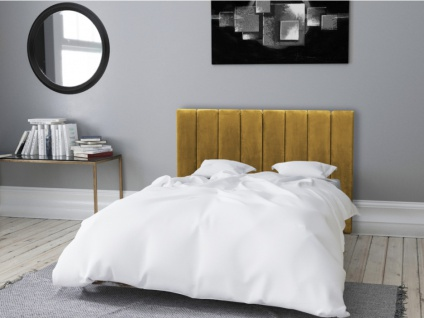 Bett-Kopfteil faltbar AMELA - 160 cm - Samt - Gelb