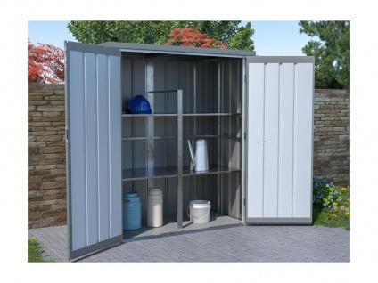 Garten-Aufbewahrungsschrank SEVY - Stahl - Grau - 1, 24 m²