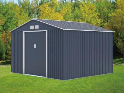 Gerätehaus Metall Maxita II - 9, 3m² - Grau