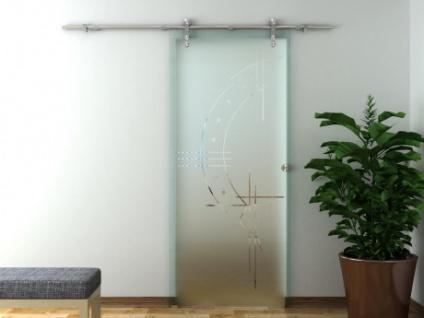 Glasschiebetür Stahlsystem JOHANNA - Höhe: 205 cm