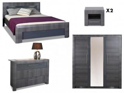 Sparset Schlafzimmer Britany: Bett 140x190 (4 tlg.)