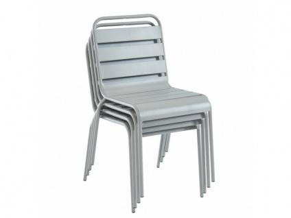 Garten Essgruppe Metall MIRMANDE - Tisch D. 60 cm & 2 Stühle - Grau - Vorschau 5
