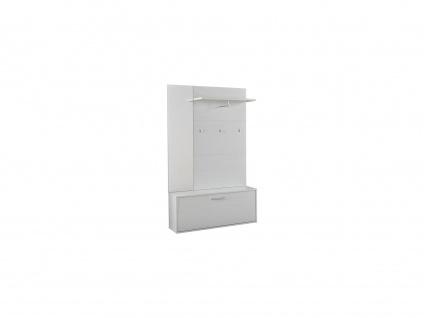 Garderobe CALEB - 1 Tür & 1 Ablage - Kiefernholzfarben - Vorschau 3