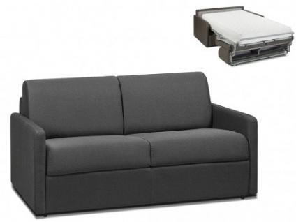 Schlafsofa 2-Sitzer Stoff CALIFE - Grau - Liegefläche: 120 cm - Matratzenhöhe: 22cm