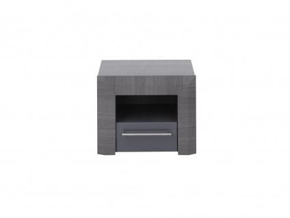 Nachttisch Design BRITANY - 1 Schublade - Ulmen-Optik grau