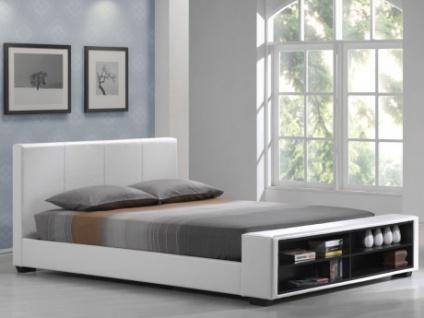 Polsterbett mit Stauraum Avalon - 160x200cm - Weiß - Vorschau 1
