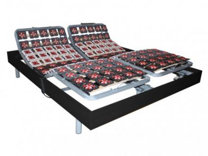 Relax-Lattenrost 2x65 Tellermodule schwarzes Holz von DREAMEA - 2x80x200cm - OKIN-Motoren