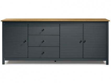 Sideboard NEWPORT - 3 Türen & 3 Schubladen - Blaugrau & Eiche - Vorschau 5